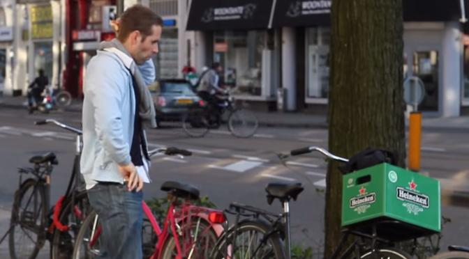Heineken 1 april grap: Het fietskrat!