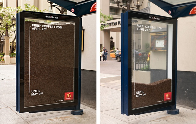 Mcdonald's guerrilla coffee