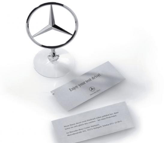 guerrilla marketing voorbeelden Mercedes 1