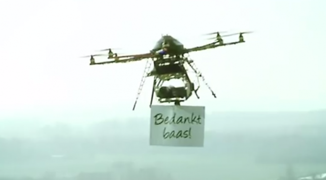 Helicopterstunt bedankt bazen in Nederland