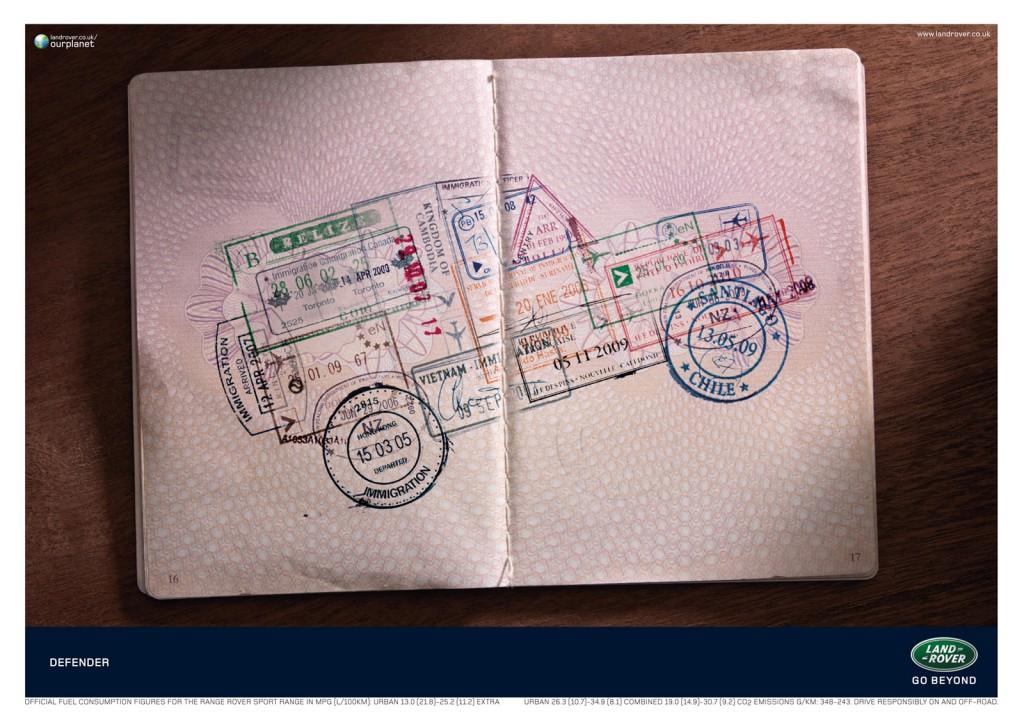Land Rover Defender Advertentie Paspoort