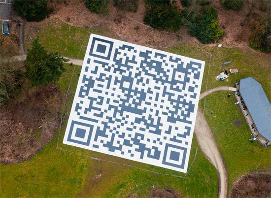 QR-code vanuit de lucht