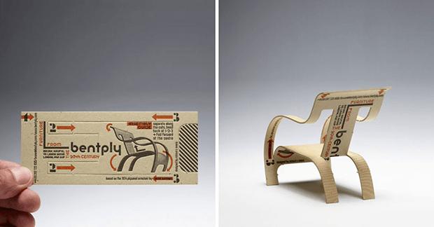 creatief visitekaartje meubelmaker
