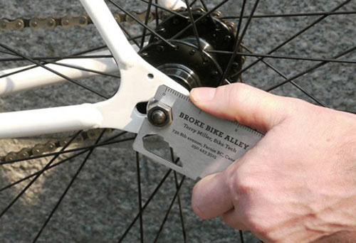 creatief visitekaartje fiets