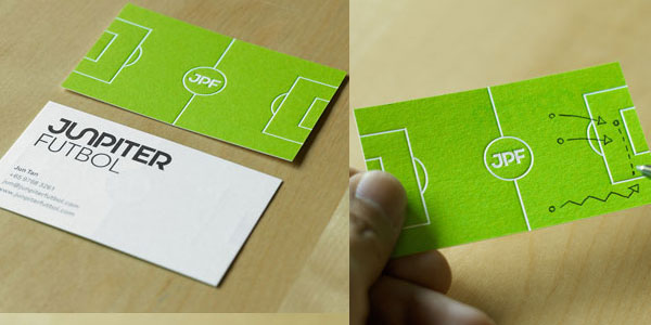 creatieve visitekaartjes voetbal