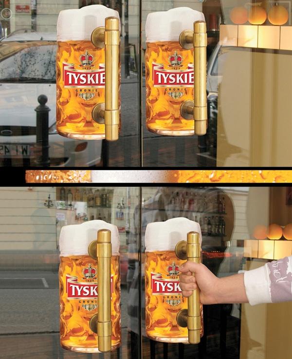 Guerrilla Marketing Voorbeeld 39 Tyskie Beer