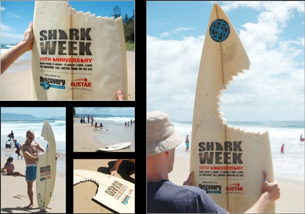 Guerrilla Marketing Voorbeeld 40 Shark Week Discovery