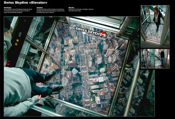 Guerrilla Marketing Voorbeeld 41 Skydive