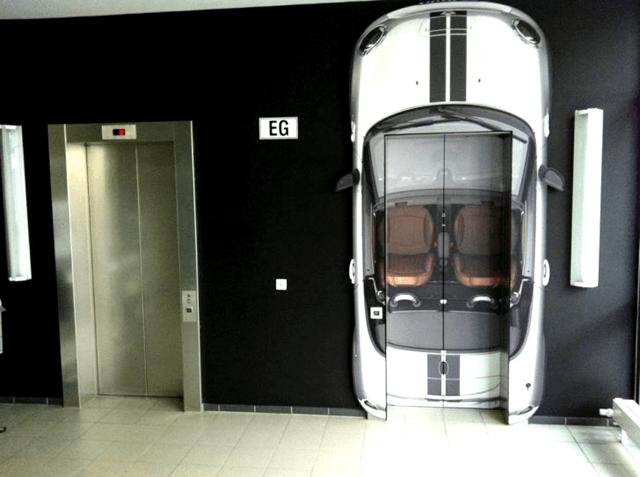 Guerrilla Marketing Voorbeeld 50 Mini Roadster Lift