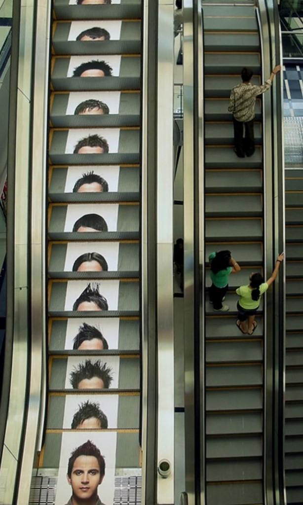 Guerrilla Marketing Voorbeeld 52 Escalator