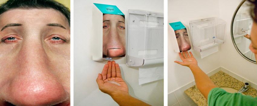 toiletreclame-zeepdispenser